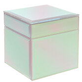 Pink Holographic Glass Jewelry Box