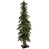 Green Alpine Pre-Lit Christmas Tree - 3'
