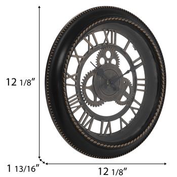 Bronze Gear Wall Clock
