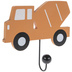 Orange Construction Truck Wood Wall Decor