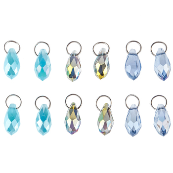 Faceted Teardrop Glass Charms