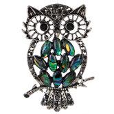 Owl Cutout Shell Pendant
