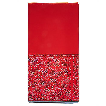 Red Bandana Table Cover