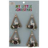 Mini Triangle Reindeer Ornaments