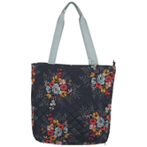 Floral Needlepoint Tote Bag