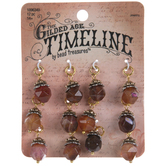 Brown Agate Faceted Dangle Charms