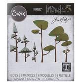 Sizzix Thinlits Funky Trees Dies