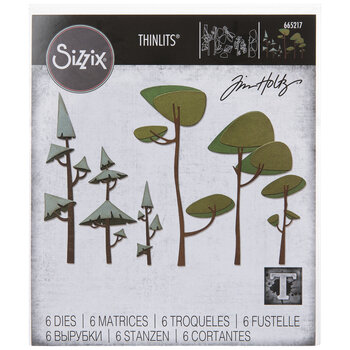 Sizzix Thinlits Funky Trees Dies