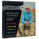 Premium Soft Oil Pastels - 24 Piece Set