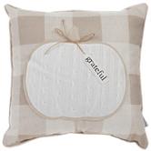 Pumpkin & Buffalo Check Pillow