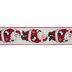 Cream & Red Santa Wired Edge Ribbon - 2 1/2