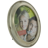 """Silver Oval Frame With Swirl Edges - 8"""" x 10"""""""