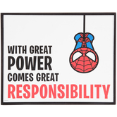 Great Responsibility Spider-Man Wood Wall Decor