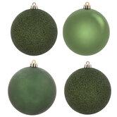 Green Shiny, Matte & Glitter Ball Ornaments