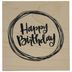 Circled Happy Birthday Rubber Stamp