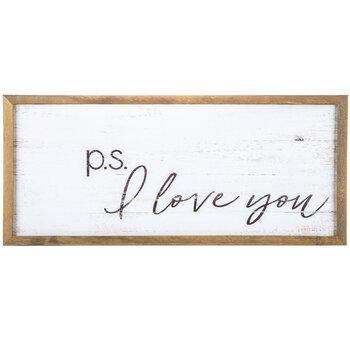 P.S. I Love You Wood Wall Decor