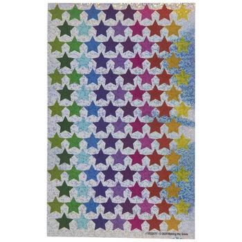 Multi-Color Sparkle Stars Stickers
