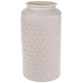 White Hexagon Metal Vase