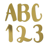 Gold Foil Calligraphy Alphabet Stickers