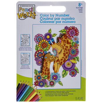 Giraffes Color By Number Kit