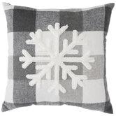 Gray Buffalo Check & Snowflake Pillow