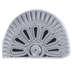 Half Round Floral Leather Stamping Tool