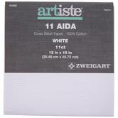 "White 11-Count Aida Cross Stitch Fabric - 12"" x 18"""