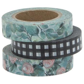 Floral & Buffalo Check Washi Tape