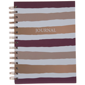 Plum Striped Spiral Journal