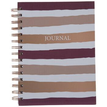 Plum Striped Spiral Journal
