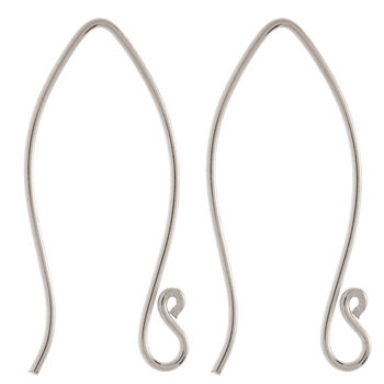 Sterling Silver Curved Angle Ear Wires