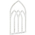 Distressed White Arched Wood Wall Decor