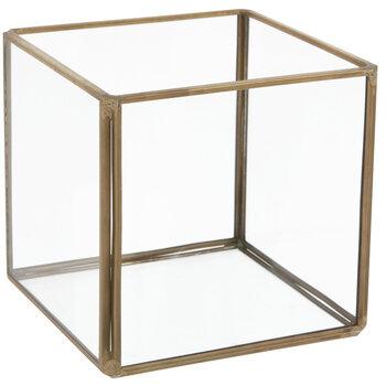 Gold Square Terrarium - Small