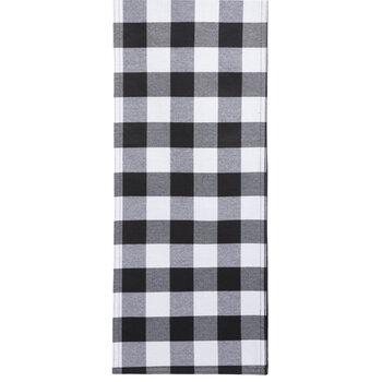 Black & White Buffalo Check Table Runner