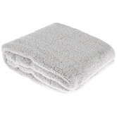 Taupe Heather Sherpa Throw Blanket