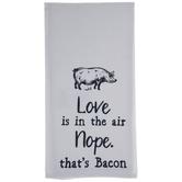 Love Nope Bacon Kitchen Towel