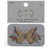 Floral Butterfly Magnetic Pin Tin