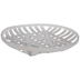 White Woven Round Wood Tray - Large