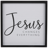 Jesus Changes Everything Wood Wall Decor