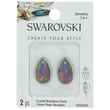 Crystal Pear Pendants