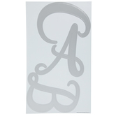 Silver Foil Script Uppercase Alphabet Stickers