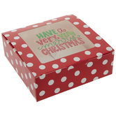 Very Merry Christmas Polka Dot Treat Boxes