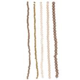 Khaki Assorted Bead Strands