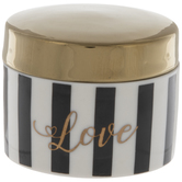 Love Striped Jewelry Box