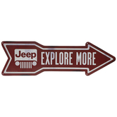 Jeep Arrow Metal Sign