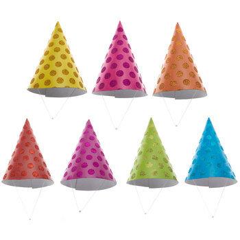 Glitter Dot Party Hats
