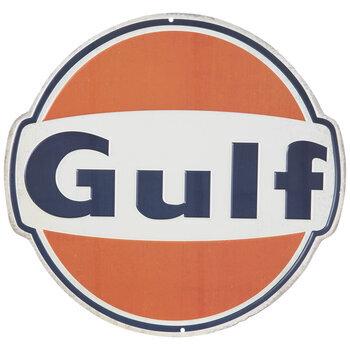 Gulf Oil Logo Metal Sign