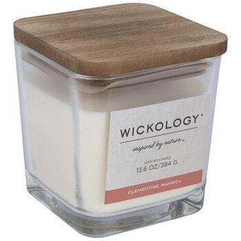 Clementine Mango Wood Wick Jar Candle
