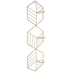 Gold Hexagons Metal Wall Sconce