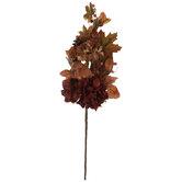 Red & Orange Hydrangea & Gourd Stem